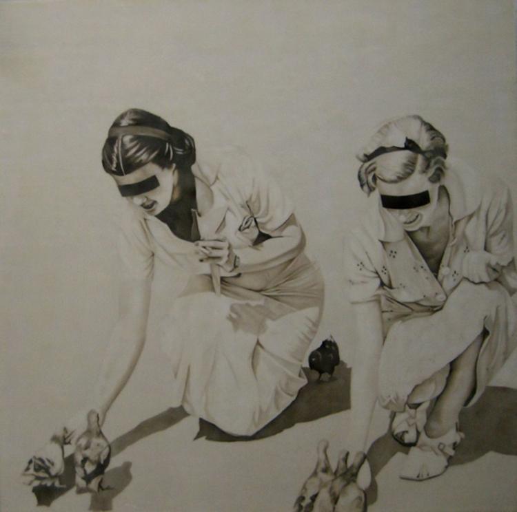 2.pigeon Paintings by Jhina Alvarado