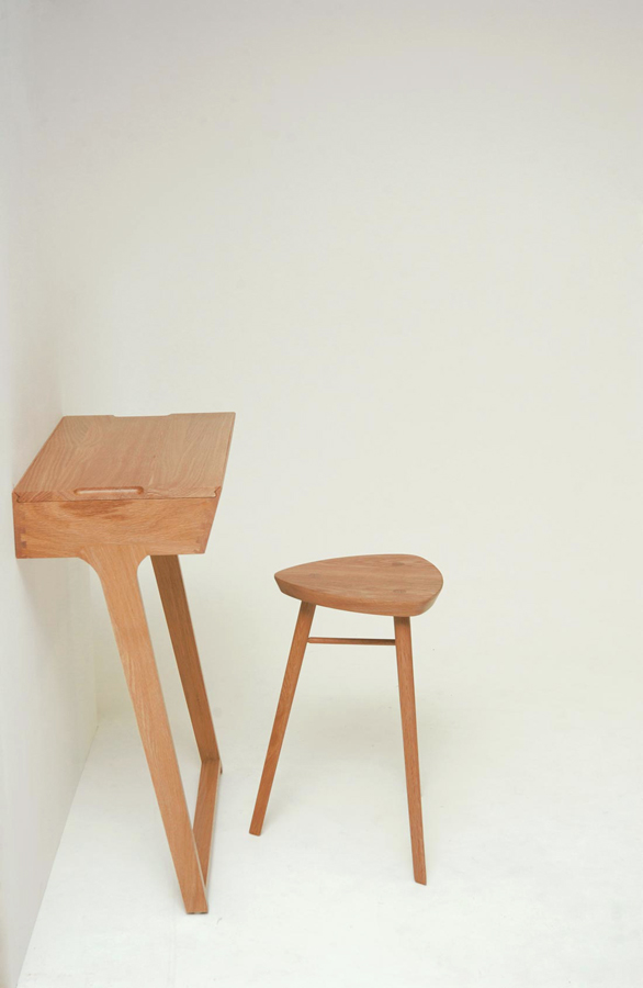 3o2 Quello Table and Stool by Phil Procter