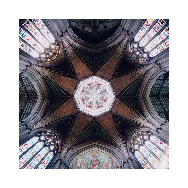 751 Geometric Patterns on Cathedral Ceilings