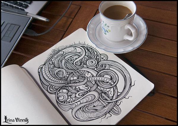 99347125727128211 Sketchbook Illustration Drawings by Irina Vinnik