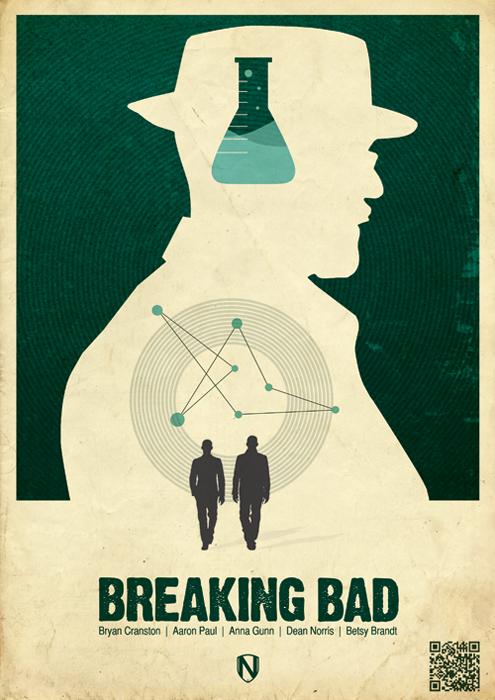 BREAKING BAD PRINT1 Mad Men / Breaking Bad / Dexter / Boardwalk Empire prints by @needledesign