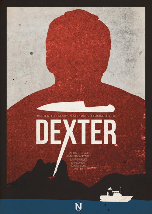 DEXTER1 Mad Men / Breaking Bad / Dexter / Boardwalk Empire prints by @needledesign