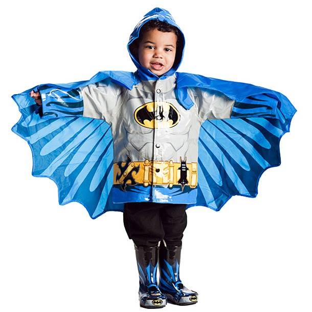 Kids Superhero Raincoats 6 Kids Superhero Raincoats