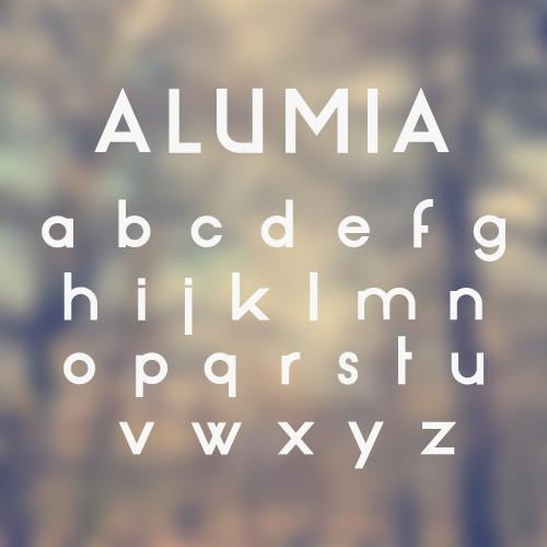 Lowercase ALUMIA Typeface   $10
