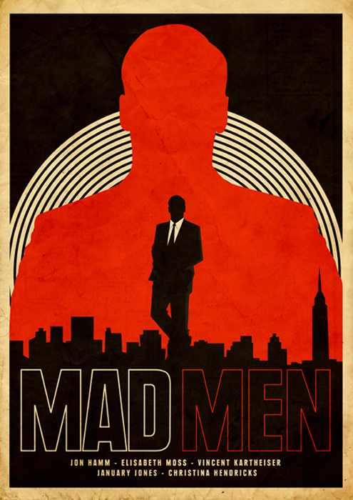 MADMEN Mad Men / Breaking Bad / Dexter / Boardwalk Empire prints by @needledesign