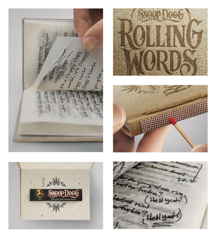 RollingWords Detail Rolling Words, Snoop Dogg's smokable songbook