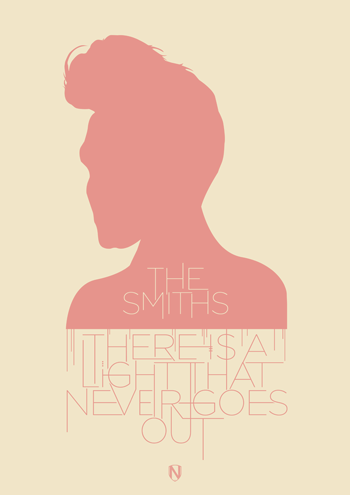 THE SMITHS There Is A Light That Never Goes Out   The Smiths print by @needledesign
