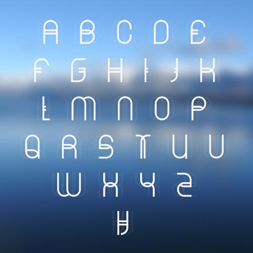 alphabet ARCTIC   $10 Font