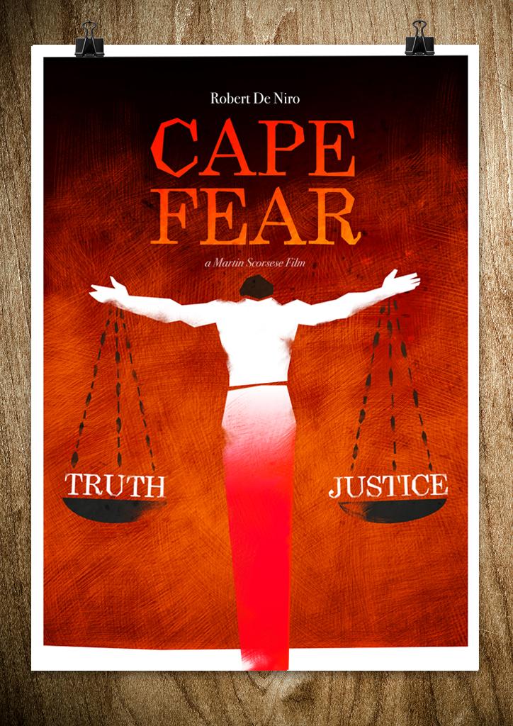 cape fear2 A Bronx Tale, Kill Bill, Cape Fear   Posters by Rocco Malatesta
