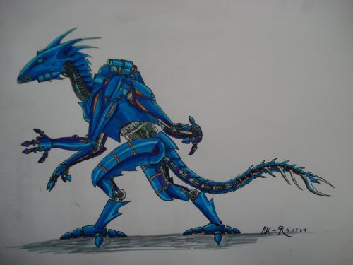 dragon dino robot 25+ Stunning Robot Illustrations