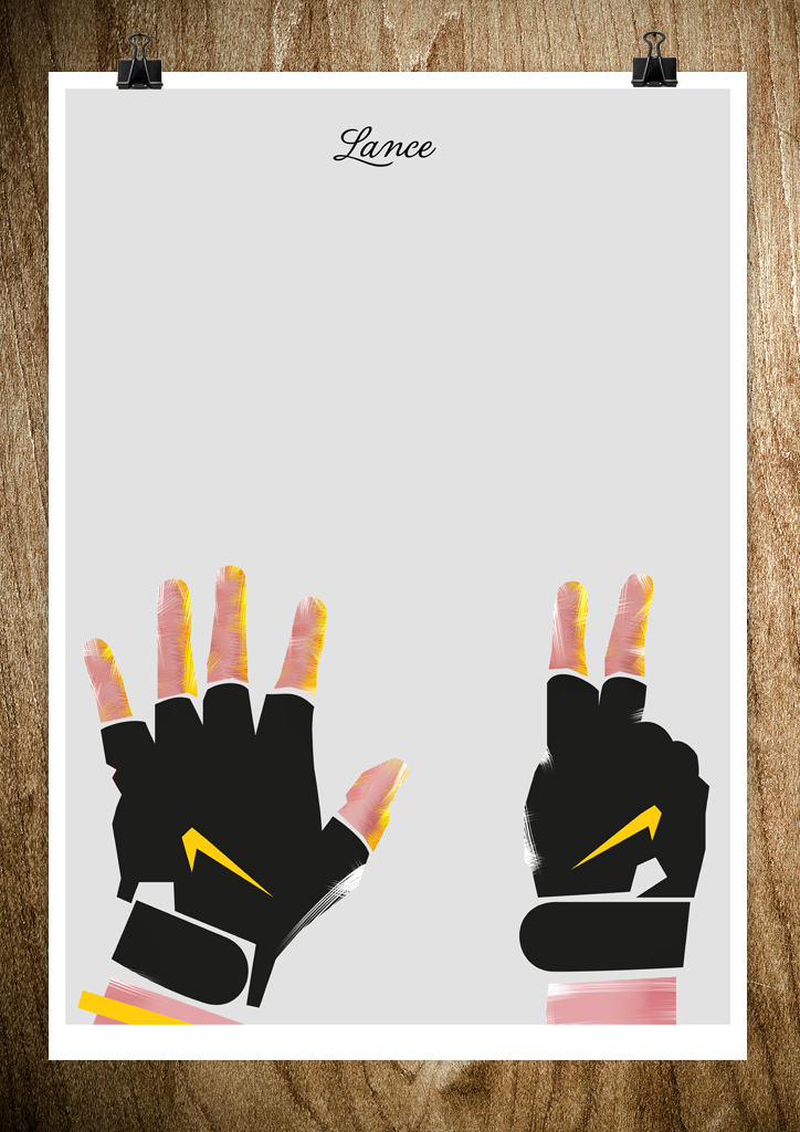 lance LANCE   Posters of Hands by Rocco Malatesta