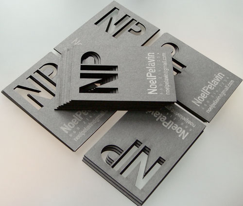 4.creative business cards with big typography 62 Cool Examples Of Big Typography In Business Card Design