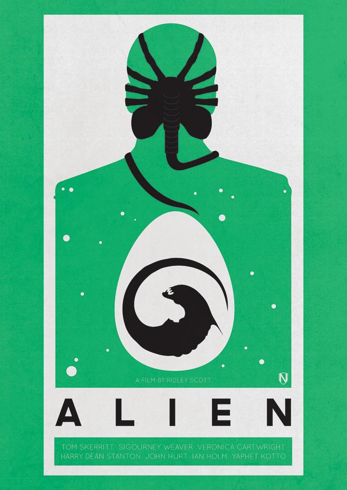 ALIEN PRINT ALIEN PRINT BY @NEEDLEDESIGN