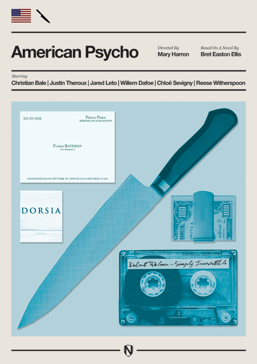 AMERICAN PSYCHO American Psycho Print by @needledesign