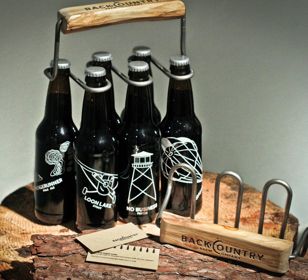 Backcountry Brew Company awesome bottle holder1 Best Beer Brewing Company Branding Examples