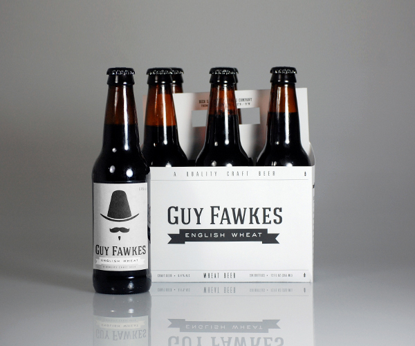 Bier Schnobbes Brewing Company Bottle Package Branding guy fawkes1 Best Beer Brewing Company Branding Examples