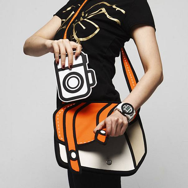 Cheese+ Cartoon inspired 2D Handbags by Taiwanese Designers JumpFromPaper
