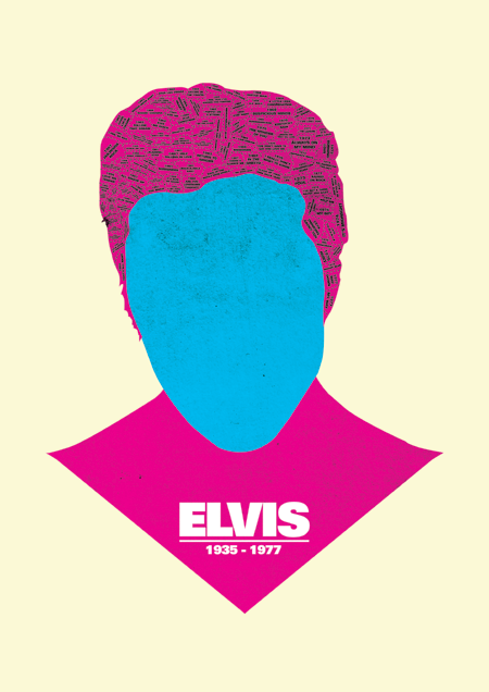 ELVIS print discography phrenology by @needledesign (Dylan/Bowie/Elvis/Lennon)