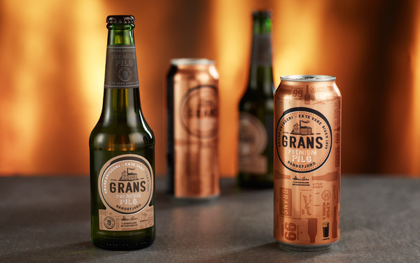 Grans Family Brewing Company Premium Pils Bottle Package Design Best Beer Brewing Company Branding Examples