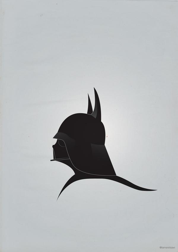 abf25ead74fb69b6b8fe2a201ade5b98 Vadarisim   A playful vector collection using Darth Vader's helmet.