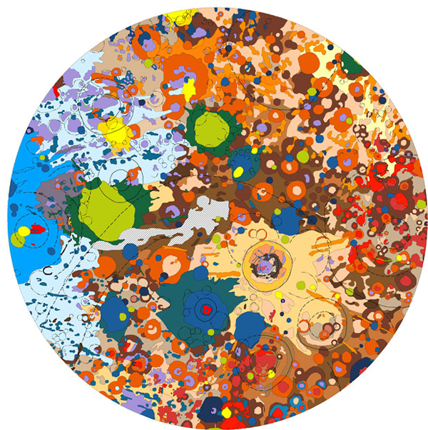artistic planetary maps enpundit 6 Artistic Planetary Maps of our Solar System