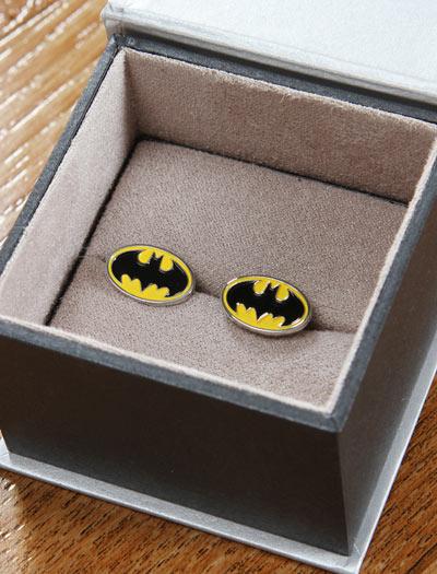 de04 batman cufflinks class Batman Cuff Links