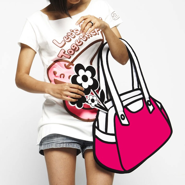 firstdate+ Cartoon inspired 2D Handbags by Taiwanese Designers JumpFromPaper