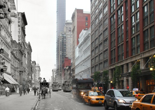 i1a205 GHOSTS OF MANHATTAN (1900 vs 2012)