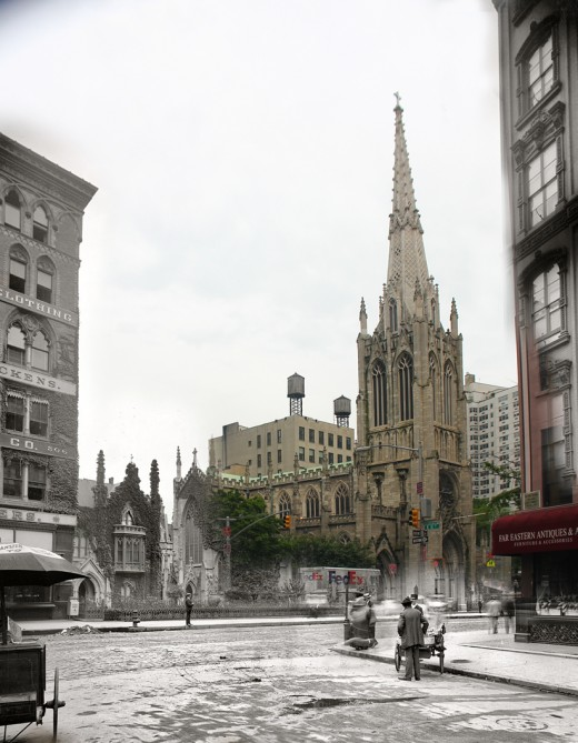i1b207 GHOSTS OF MANHATTAN (1900 vs 2012)