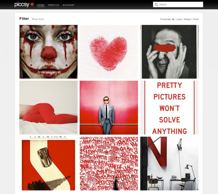 piccsy homepage 750x668 Piccsy Helps You Discover the Images You Love