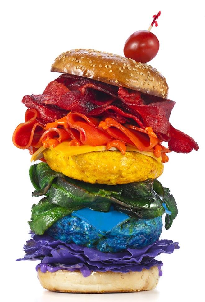 rainbow burger Henry Hargreaves Rainbow Food