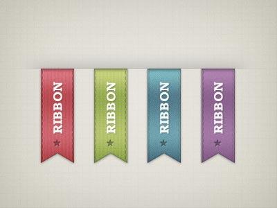 ribbon psd 01 Free PSD Ribbon for Designers