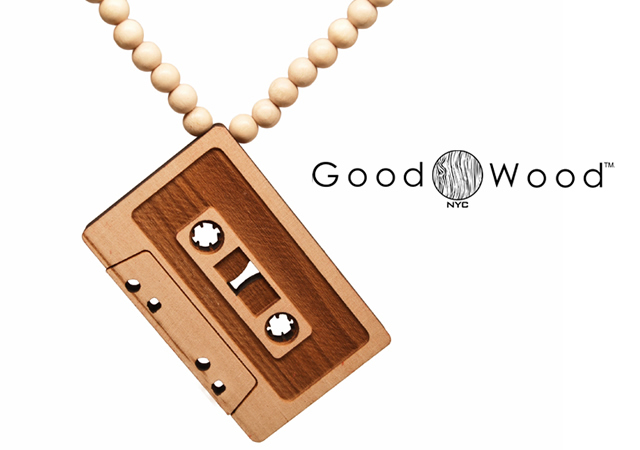 1o41 Cassette wood necklace by GoodWood