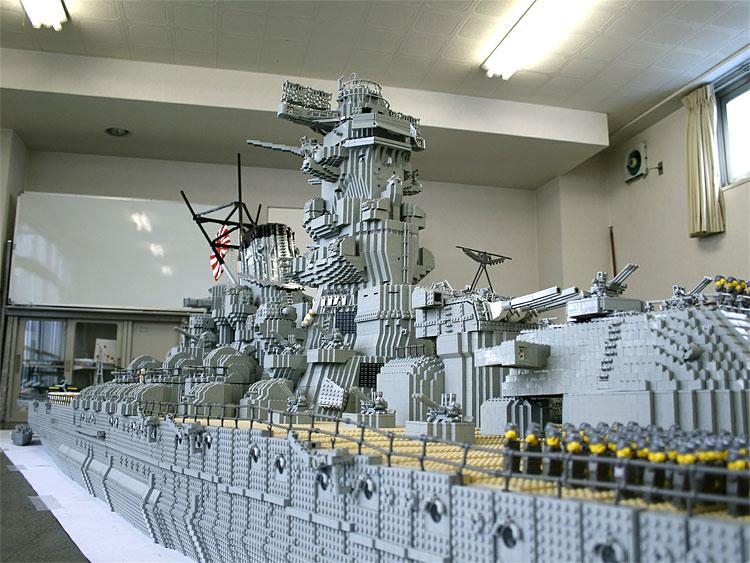 Hot And Very Cool Stuff Cool Lego Battleship Yamato Is Biggest - Biggest lego ship