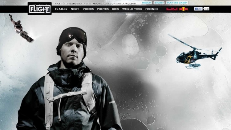 The Art of Flight Parallax web design