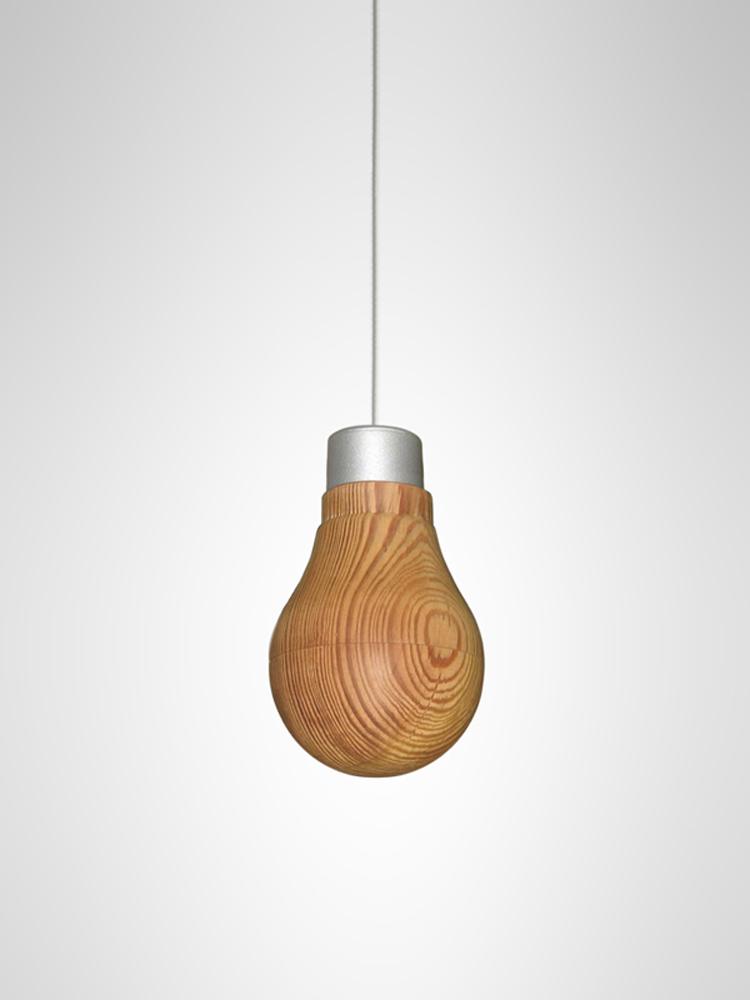 7 image01 Wooden Light Bulb by Fukusada Design