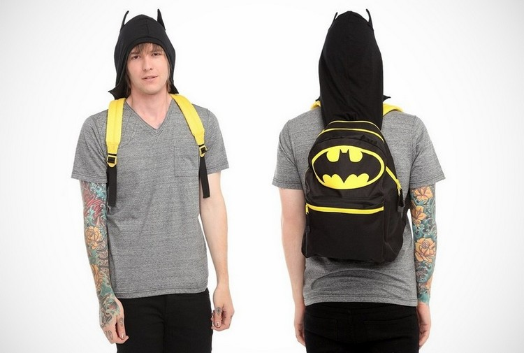 Batman Hooded Backpack Batman Hooded Backpack