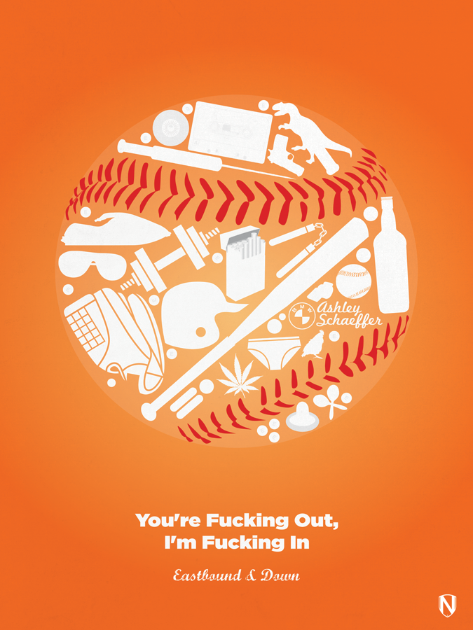 EASTBOUND DOWN  Eastbound & Down Print by @needledesign