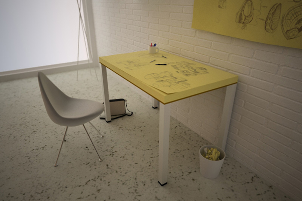 Post Itable table enpundit 2 The Post itable by SoupStudio Design