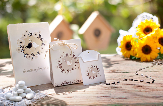 bomboniere solidali originali lipu Indie Wedding Favor for Birdlife Italy