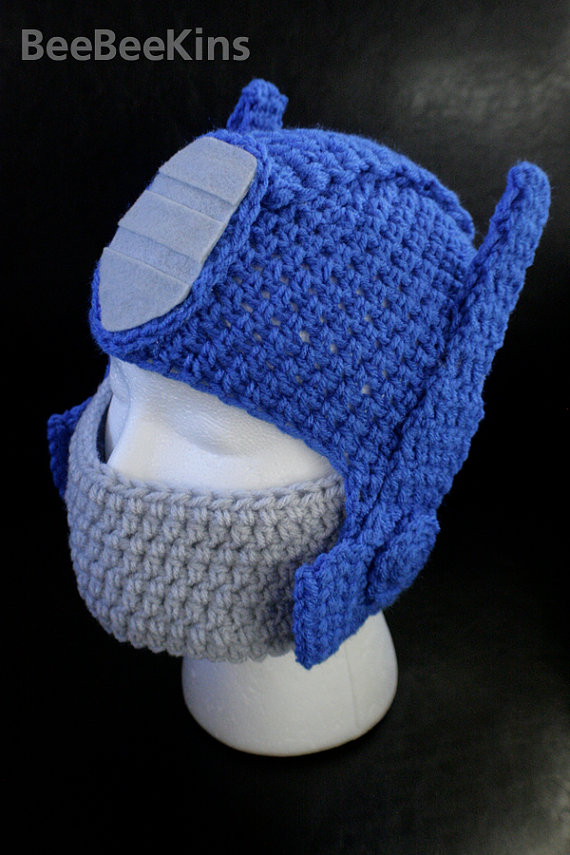 il 570xN.313716309 Optimus Prime Crocheted Hat