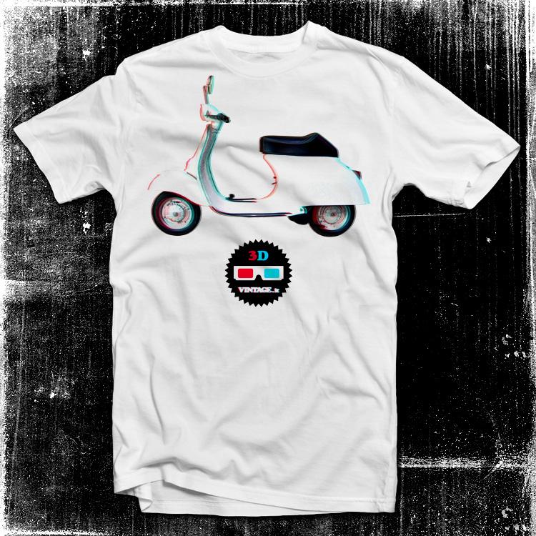 vintage 2ruote vespa Vespa 3D t shirt