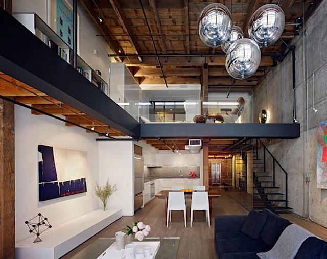 warehouse loft sanfran 02 Warehouse in San Francisco rebuilt into Contemporary Loft