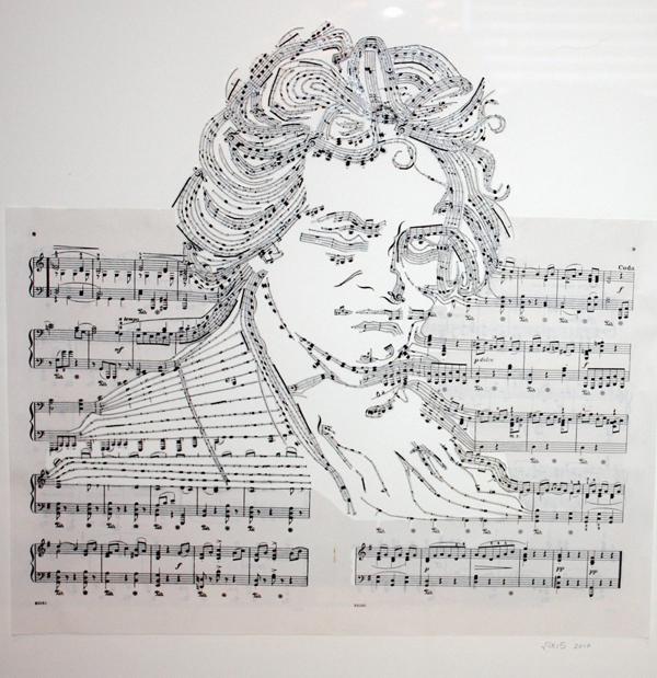 Beethoven ErikaIris Enpundit Artist Uses Found Items to Sculpt Magic on Paper