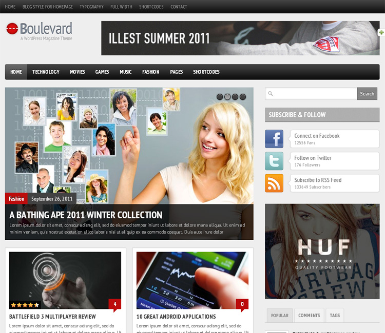 Boulevard 02 25+ Fantastic WordPress Review Themes