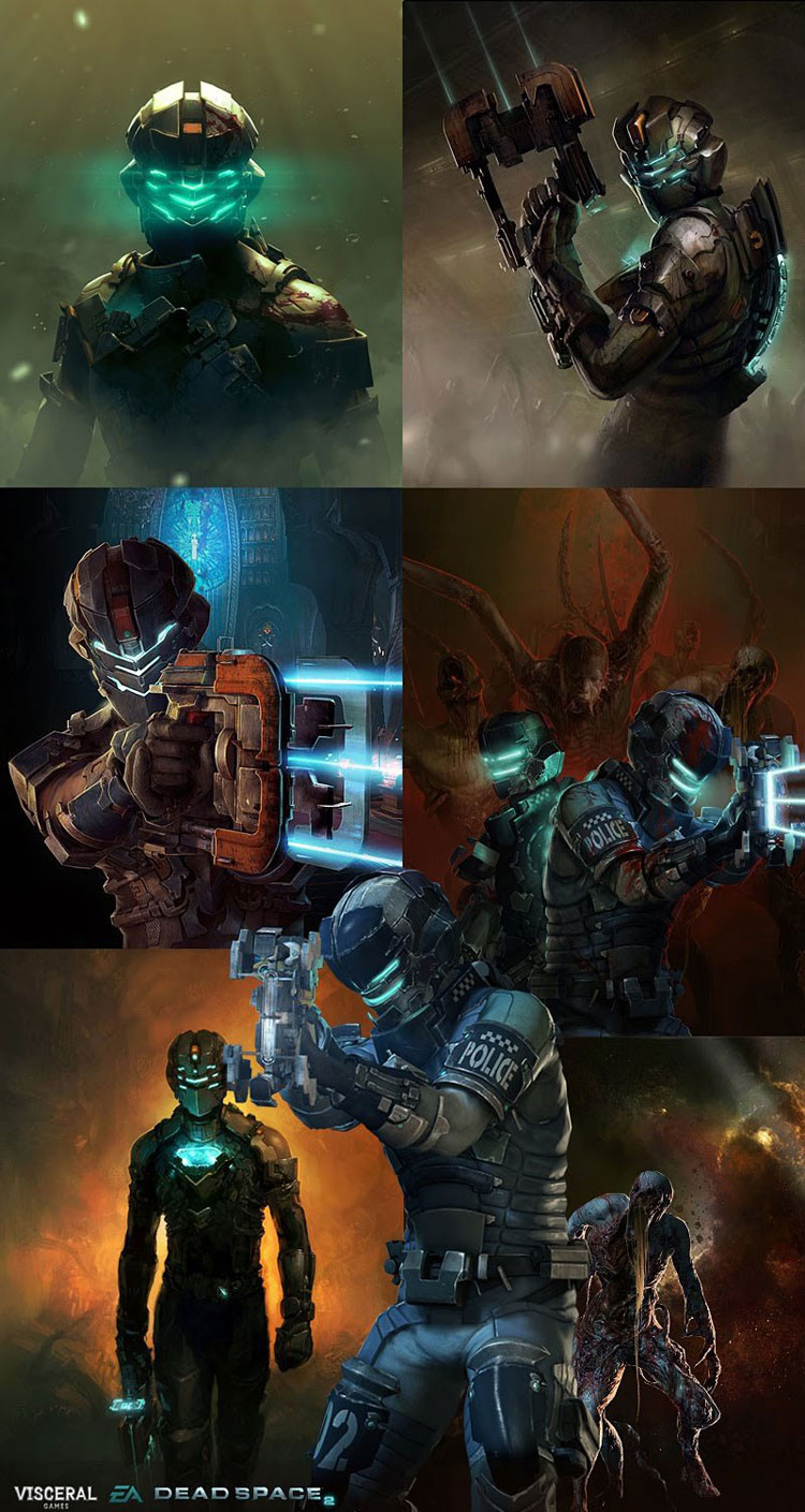 Dead Space 2 Illustrations Superb Drawing Illustrations By Bjorn Hurri