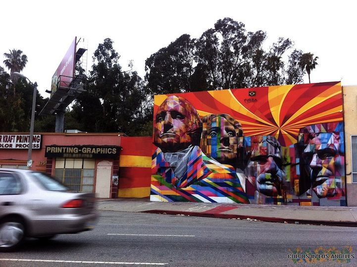L.A.s Giant Mount Rushmore Street Mural