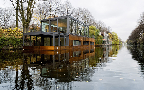 Floating Home on Hamburg's Eilbek Canal