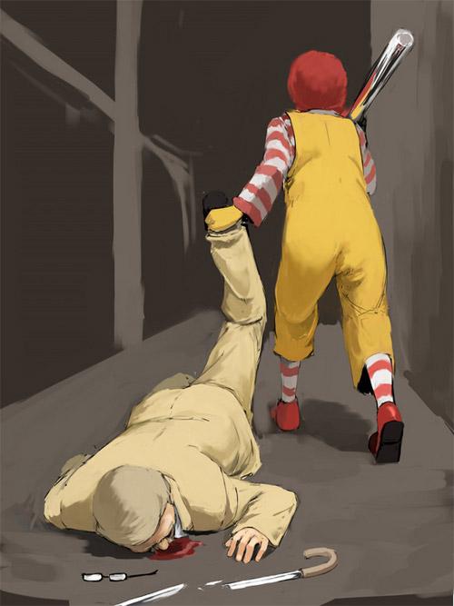 Mcdonald hit KFC McDonald hit KFC