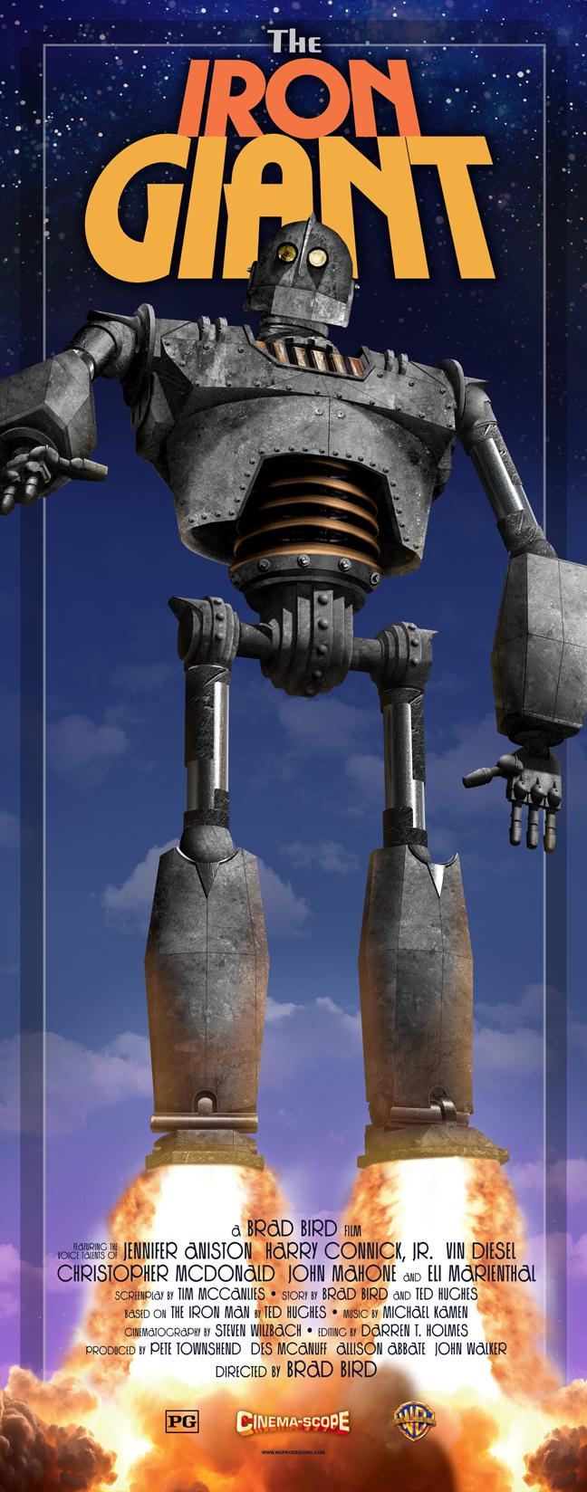 The Iron Giant hopko designs The Iron Giant poster by Hopko Designs